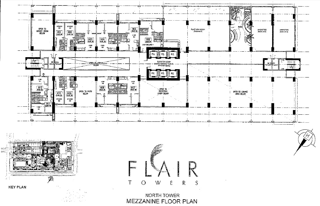 Flair towers north tower mezzanine floor plan flair towers for Mezzanine floor plan