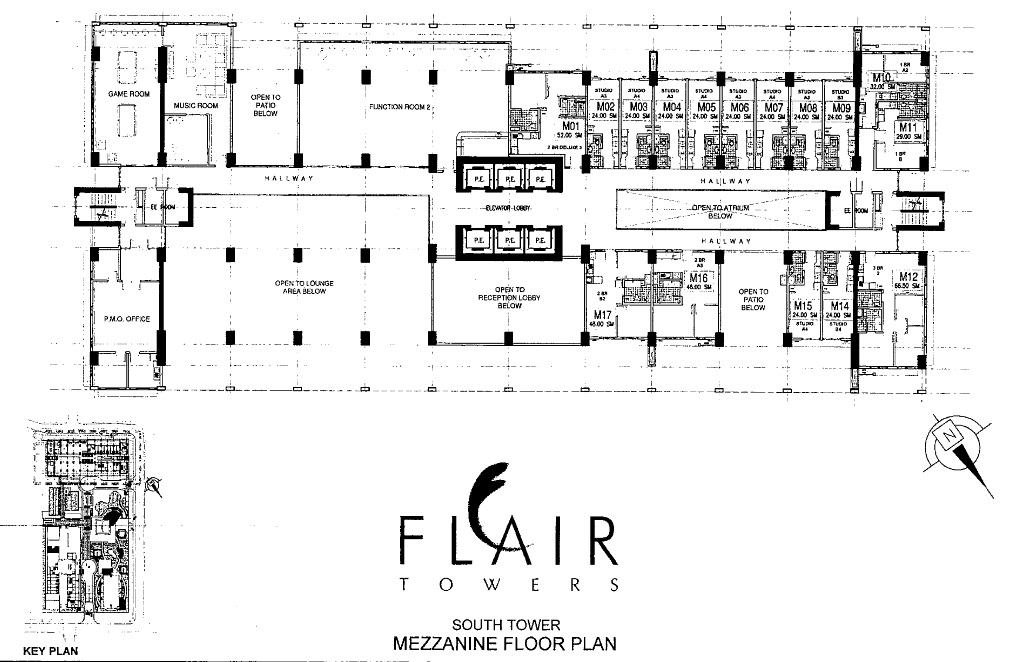 Flair towers south tower mezzanine floor plan flair towers for Mezzanine floor plan
